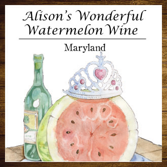2016 Alison's Wonderful Watermelon Wine Product Image